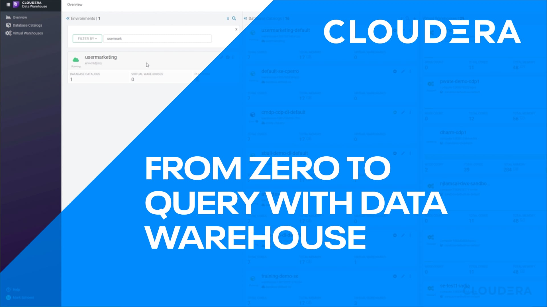 From Zero to Query with Cloudera Data Warehouse